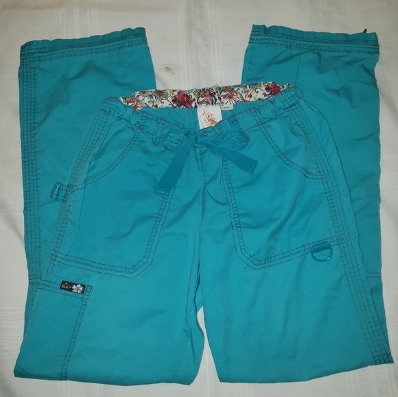 koi Pants - Koi Scrub Pants Lindsey in Teal size Xsmall Tall